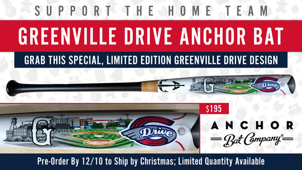 Greenville Drive Anchor Bat Hand Crafted Custom Bat