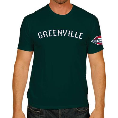 Greenville Drive Retro Brand Green Greenville Tee