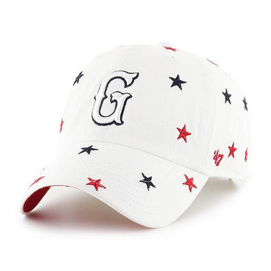 Greenville Drive 47 Brand Women's White Stars Clean Up Hat with G