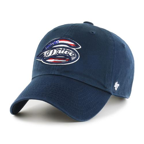 Greenville Drive 47 Brand Navy Clean Up Hat w/Stars & Stripes Primary Logo