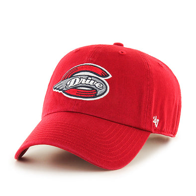 Greenville Drive 47 Brand Youth Red Clean Up Hat with Primary Logo