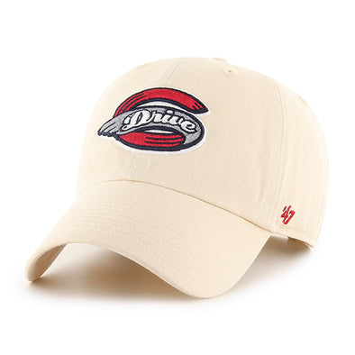 Greenville Drive 47 Brand Natural Clean Up Hat with Primary Logo
