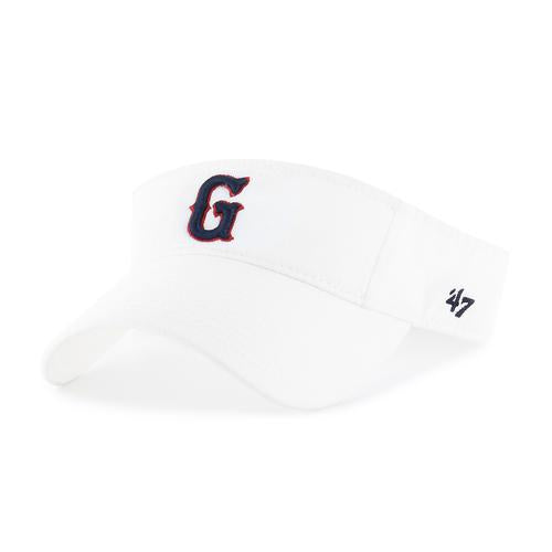 Greenville Drive 47 Brand White Visor with Navy G