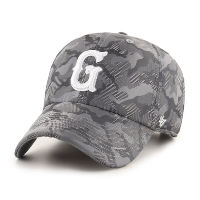 Greenville Drive 47 Brand Gray Camo Clean Up Hat with White G
