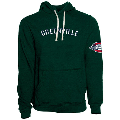 Greenville Retro Brand Green Greenville Hoodie