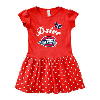 Greenville Drive Soft as a Grape Infant & Toddler Red Polka Dot Dress