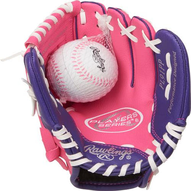 Greenville Drive Rawlings Youth Pink Glove/Soft Ball
