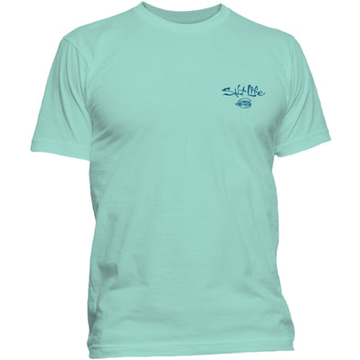 Greenville Drive Salt Life Cobranded Aruba Blue Tee