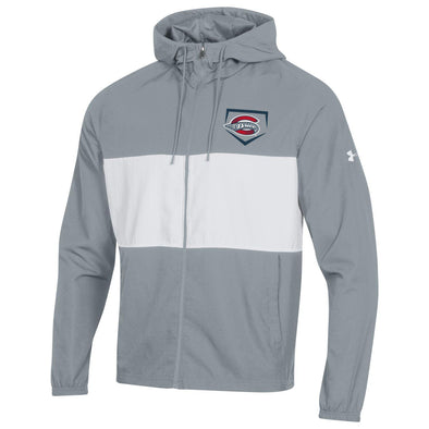 Greenville Drive Under Armour Gray & White Sportstyle Wind Jacket