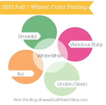 Fall and winter color pairing