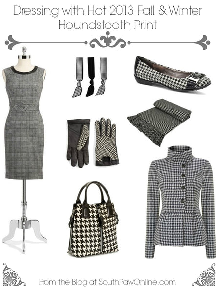 Dressing with Hot 2013 Fall and Winter Houndstooth Print