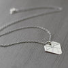 Small Modern Sterling Silver Diamond Geometric Statement Necklace