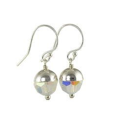 October Birthstone Swarovski Crystal Earrings, Opal