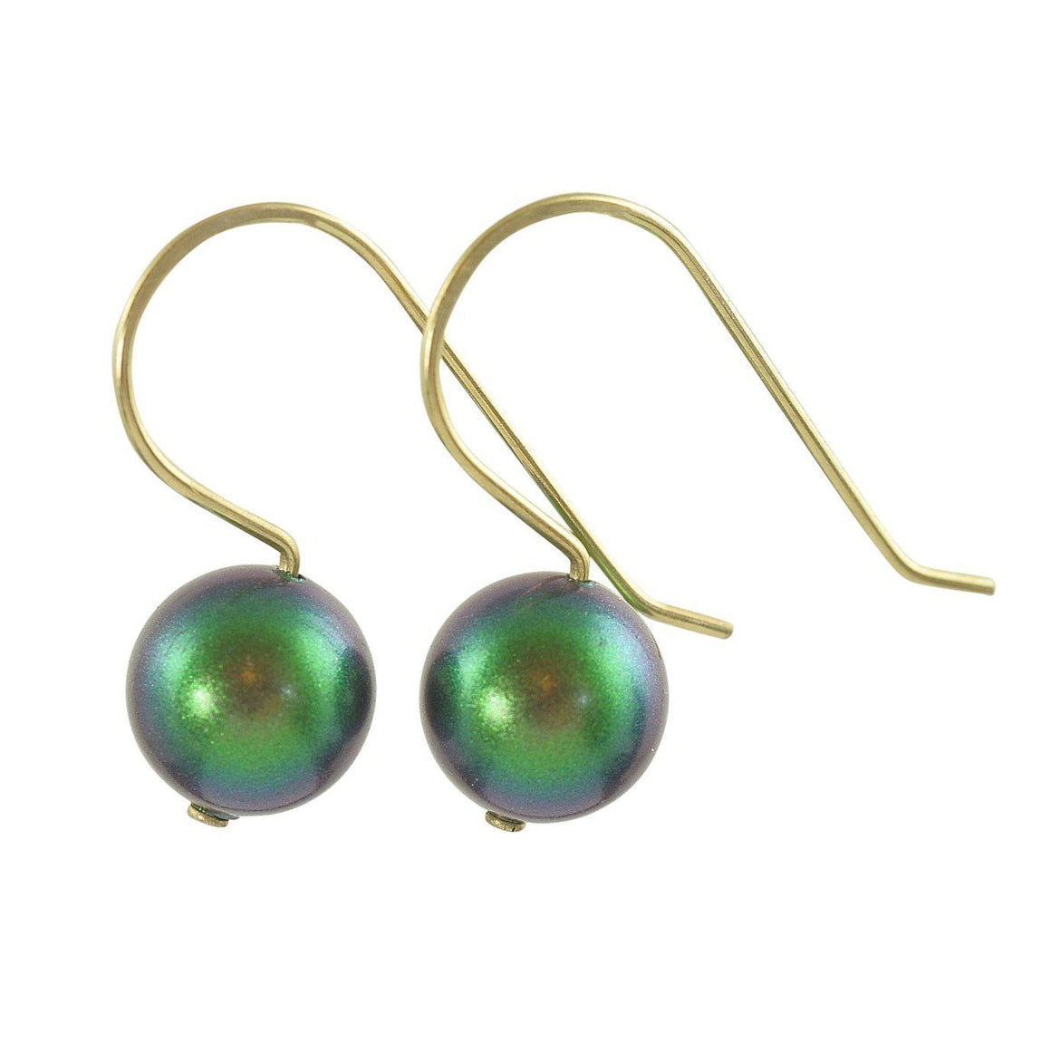 Swarovski earrings in Emerald