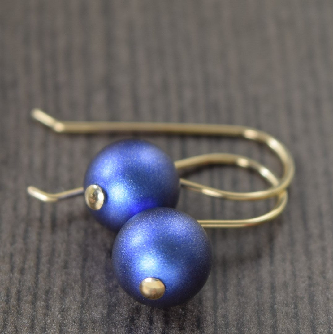 sapphire blue earrings