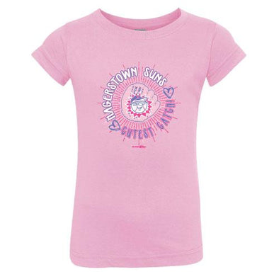 Hagerstown Suns Pink Toddler Jersey Tee