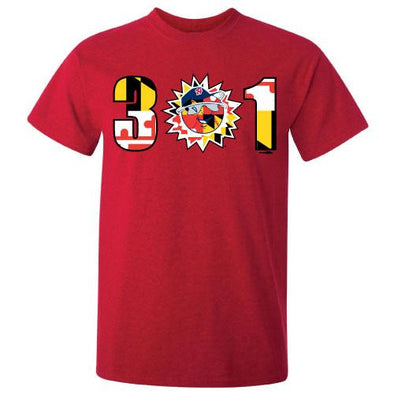 Hagerstown Suns Red 301 Tee