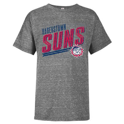 Hagerstown Suns Youth Graphite Snow T-Shirt
