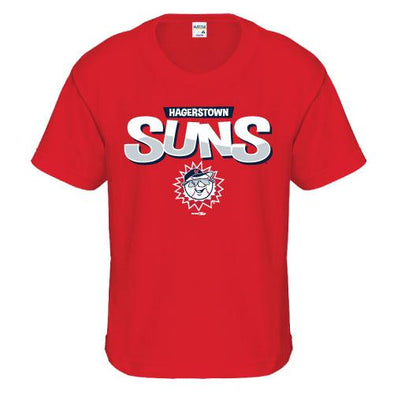 Hagerstown Suns Youth Red Suns Tee