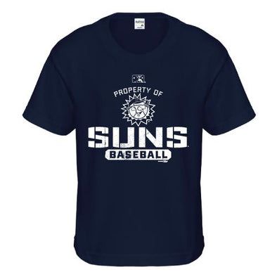 Hagerstown Suns Property of Suns Youth Tee-Navy