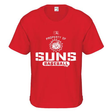 Hagerstown Suns Property of Suns Youth Tee-Red