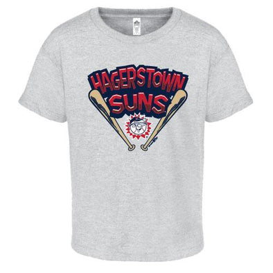 Hagerstown Suns Youth Grey Suns Tee