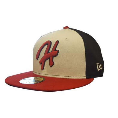 "Hagerstown Suns Throwback curly ""H"" hat"
