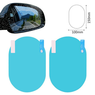 RAINPROOF CAR REARVIEW MIRROR STICKER (2PCS/SET)
