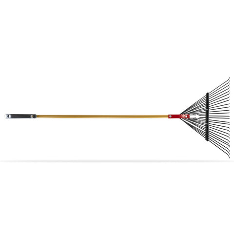 "26"" LEAF & LAWN RAKE WITH SPRING STEEL TINES"