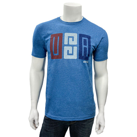 """E"" USA T-SHIRT Cool Blue"