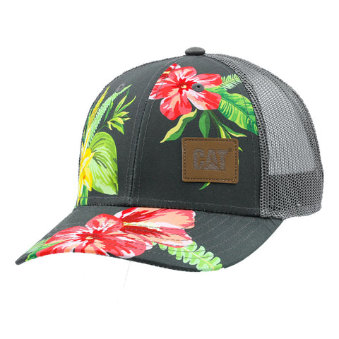 LADIES FLORAL MESH HAT