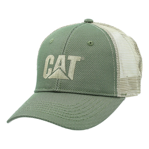 OLIVE GREEN WITH OVERLAY MESH HAT