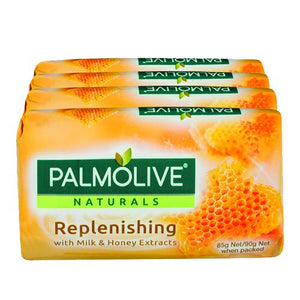 Palmolive Soap Replenishing With Milk & Honey 4 Pack