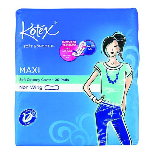 Kotex Soft & Smooth Maxi Pads 20 Pack