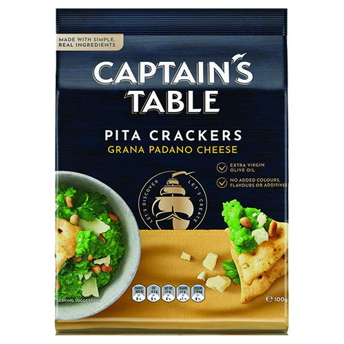 Captain's Table Cheese Pita Cracker 100G
