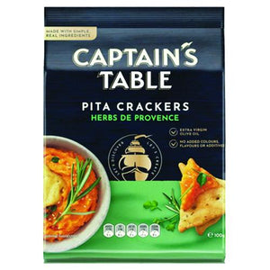 Captain's Table Herb Pita Cracker 100G