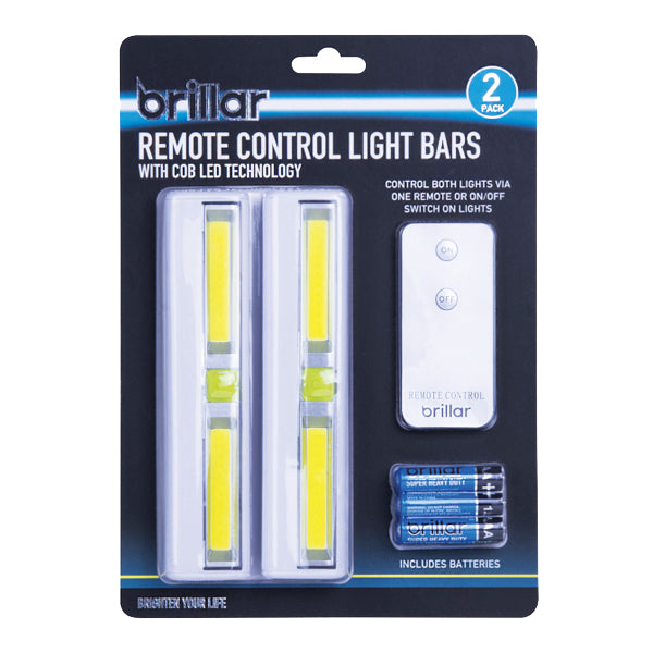 Brillar Light Bar 2pk with Remote and Battery