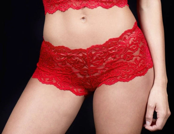 Warsiki Lace Hipster Brief 8010L Red Front The Lingerie Drawer