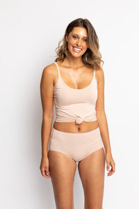 Jockey No Panty Line Promise Natural Bamboo Full Brief WWKT Dusk Front The Lingerie Drawer