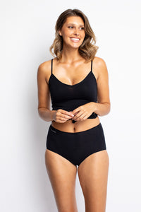 Jockey No Panty Line Promise Natural Bamboo Bikini WWL6 Black Front The Lingerie Drawer