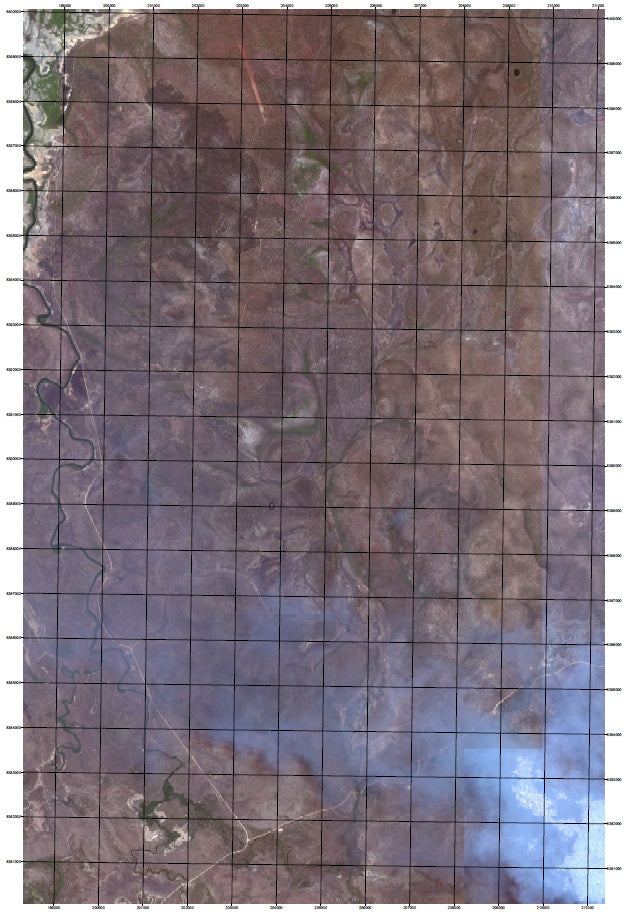 Satellite Imagery with Grid Overlay
