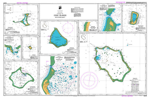 NZ 945 - Plans Of The Cook Islands