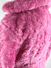 Load image into Gallery viewer, 90's Bubble Gum Pink Fuzzy Faux Fur Jacket // M