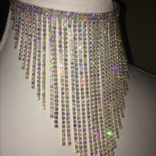 Load image into Gallery viewer, HOLO DRIP Goddess Fantasy HOLOGRAM Crystal Waterfall Choker Necklace
