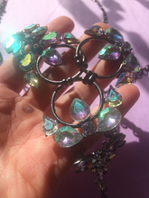 Load image into Gallery viewer, Sacred Unicorn Hologram Crystal Chain Ring Metal Harness