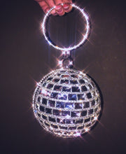 Load image into Gallery viewer, Party 24/7 Mirror Disco Retro Ball Clutch Do you Disco? Purse