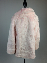 Load image into Gallery viewer, Vintage Plush Peachy Pink Faux Fur Coat // M-L