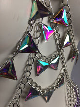 Load image into Gallery viewer, Diamond Doll Festival Hologram Gem Chain Fringe Harness Bra