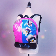 Load image into Gallery viewer, Y2K 90s Vinyl Furby Vintage Backpack