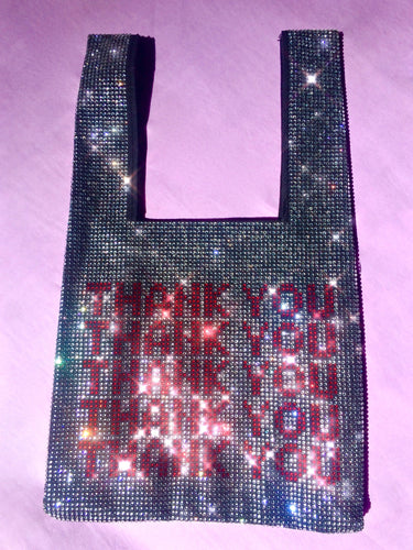 Thank You Take Away Rhinestone Tote Bag Purse